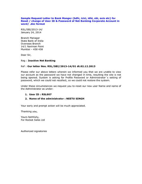 letter authorization activate dormant account axis bank