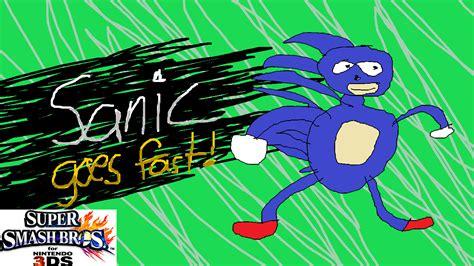 sanic hegehog  sonic  super smash bros ds skin