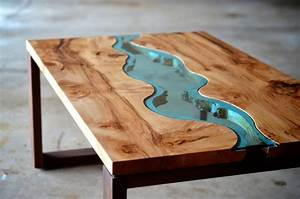 Wood casting by hilla shamia molten aluminium and charred for Glass inlay coffee table