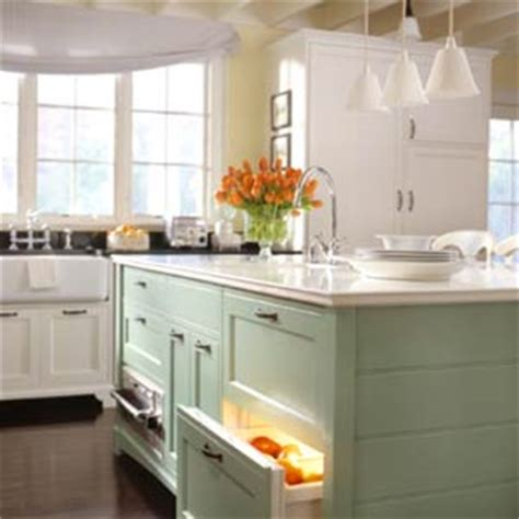 green and white kitchen cabinets kitchen cabinets are getting a color boost 368 | Green and White Kitchen