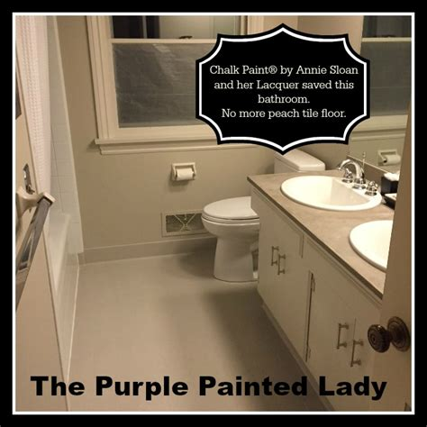 painting tile in the bathroom with chalk paint 174 the