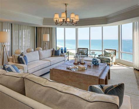 living room  sheer draperies gorgeous oceanfront