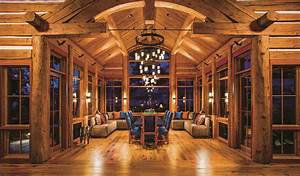 Kitchen Log Cabin Interior Design Enchanting Home Cool ...