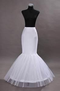 mermaid white 1 hoop wedding dress gown crinoline With wedding dress hoop skirt