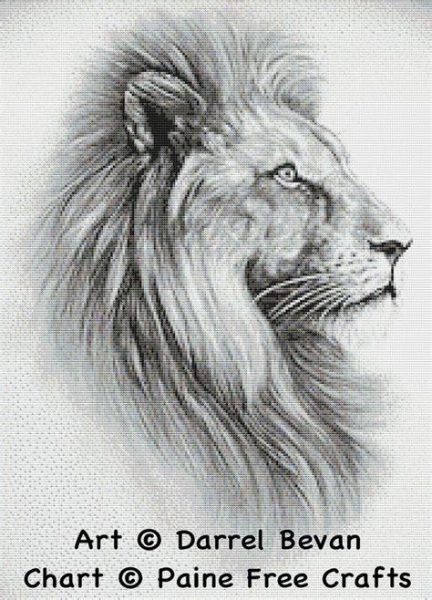 lion hochwertige emailed  cross stitch von