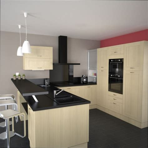 couleur cuisine mur cuisine bois couleur mur cuisine avec meuble bois clair