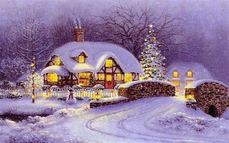 christmas houses in snow hearts valentines day wallpaper 1920x1200 26477