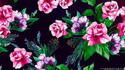 Floral Aesthetic Desktop Flowers Wallpapers Background Backgrounds
