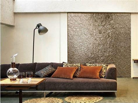 Kreative Wohnideen Fuer Moderne Wandgestaltung Und Farbgestaltung by Wandplatten Mit Blumenmotiv Und Metall Effekt Tapeten
