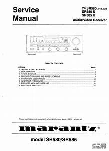 Free Download  Marantz Sr585 Sr580 A  V Receiver Service