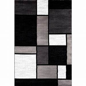 Rugs & Curtains: Contemporary Modern Black And White Area ...