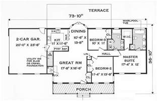 Harmonious Single Level Home Floor Plans by Great One Story 7645 3 Bedrooms And 2 5 Baths The