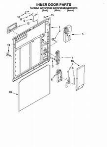 Inner Door Diagram  U0026 Parts List For Model Du915pwkb0