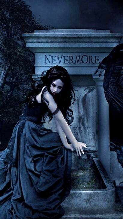 Gothic Iphone Dark Mobile Nevermore Fanfiction Rwby