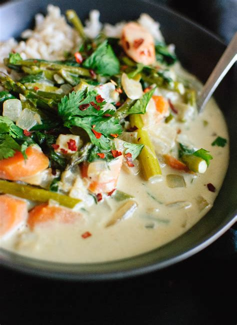 thai green curry  spring vegetables cookie  kate