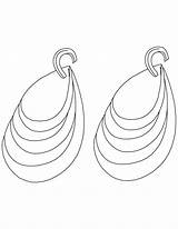 Coloring Diamond Pages Earring Earrings Library Popular sketch template