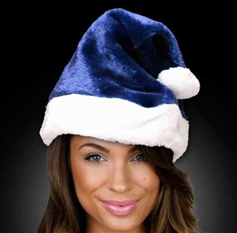 navy blue santa hat blank