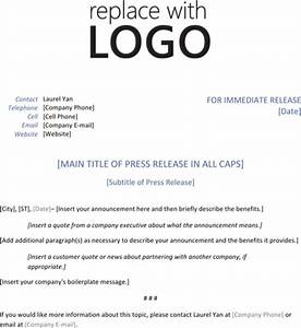 download press release template for free formtemplate With microsoft word press release template