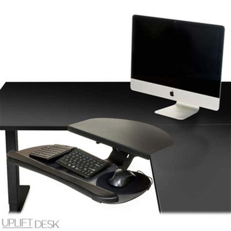 uplift desk set memory uplift keyboard tray kit for corner l shaped desk
