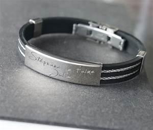 Bracelet Homme Marque Italienne : cadeau personnalis bracelet avec votre message grav ~ Dode.kayakingforconservation.com Idées de Décoration