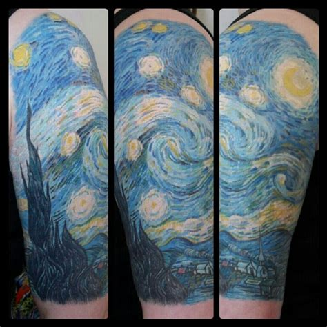Van Gough Sleeve by Galen Bryce | Starry night tattoo