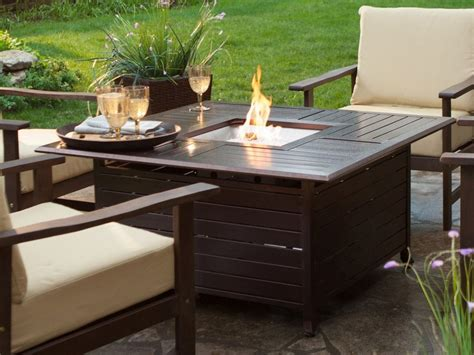 table with fireplace outdoor coffee table design images photos pictures