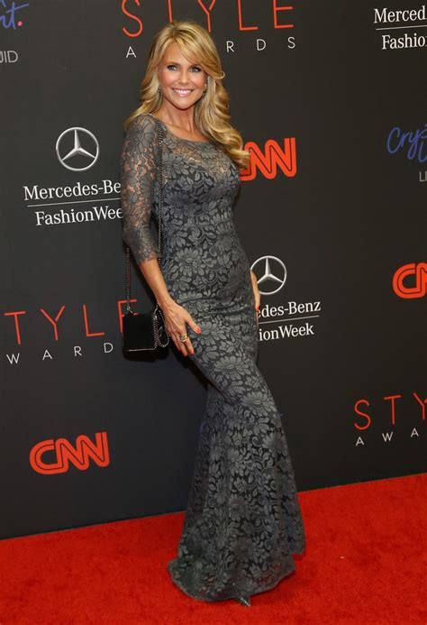christie brinkley   mbfw arrivals
