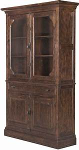 StClaire Rustic Pine Curio China Cabinet From Magnussen