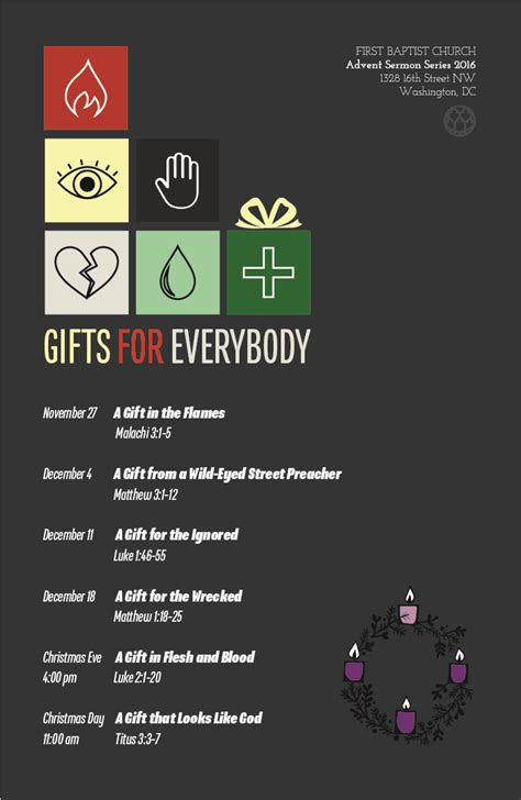 advent sermon series gifts for everybody the first