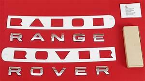 chrome front bonnet lettering for range rover sport l320 With range rover sport lettering