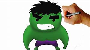 How to Draw Chibi Hulk Easy Step by Step Video | Facedrawer