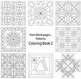Coloring Quilt Pages Printable Pattern Patterns Crazy Quilting Template Sheets Colouring Adult Blank Templates Fromblankpages sketch template