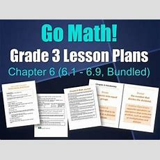 Updated Go Math Grade 3 Lesson Plans, Chapter 6 (61  69, Bundled)  Models, Go Math And Microsoft