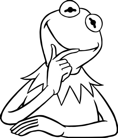 muppets kermit  frog  coloring pages