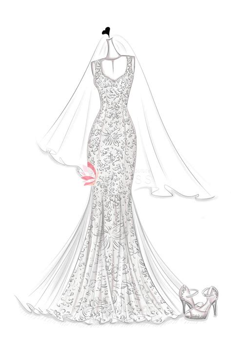 lace appliques tulle godets mermaid floor length ivory