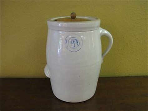 louisville pottery indian head butter churn crock