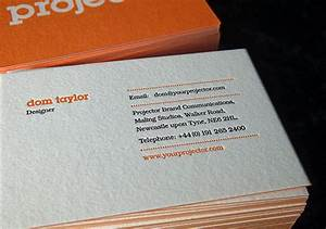 Projector blog 20 great examples of letterpress business for Examples of good business cards