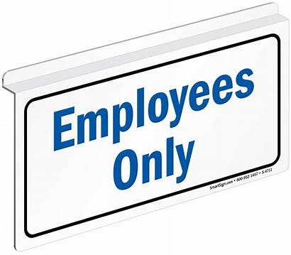 Employees Sign Signs Employee Ceiling Visitors Mydoorsign