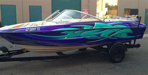 boat graphics designs custom boat wrap for 18 foot bayliner image