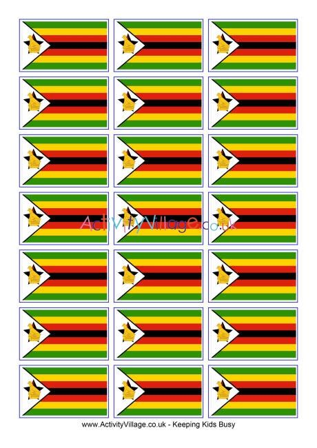 zimbabwe flag printable