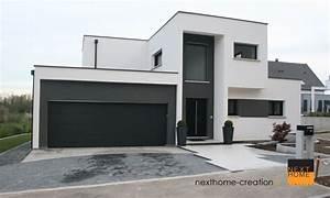 Maison à l'architecture contemporaine à toit plat Nexthome Création