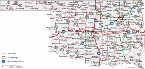 Map Of Oklahoma Cities - HolidayMapQ.com