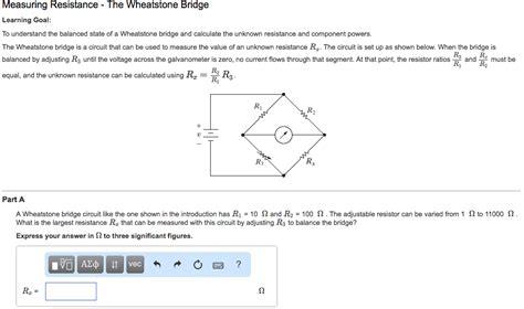 Solved Wheatstone Bridge Circuit Like The One Shown