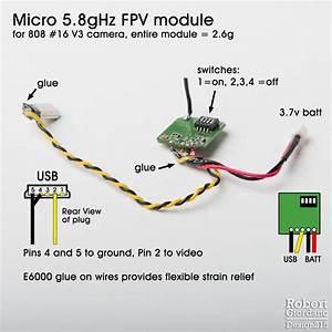 Micro 5 8ghz Fpv Module For 808 Camera