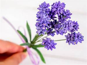 Lavendel aus Blütenpaste einfache und schnelle Füllblume