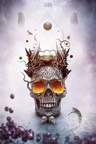 3D Digital Art Skulls