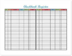 Checking Account Register Printable