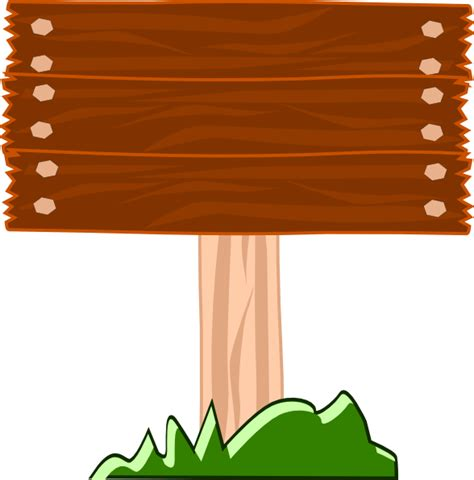 wood street sign clip art  clkercom vector clip art