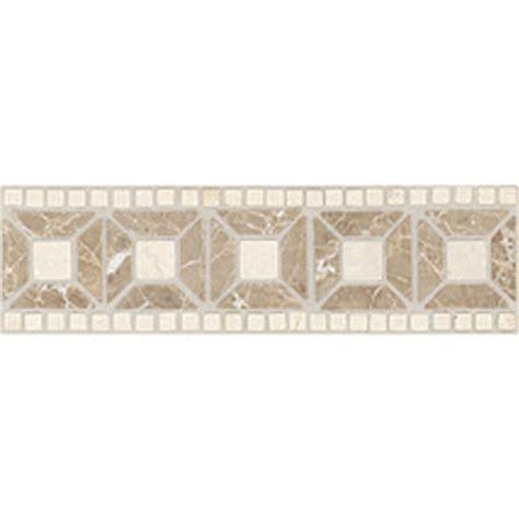 Daltile Stone Decorative Borders Emperador Light / Crema