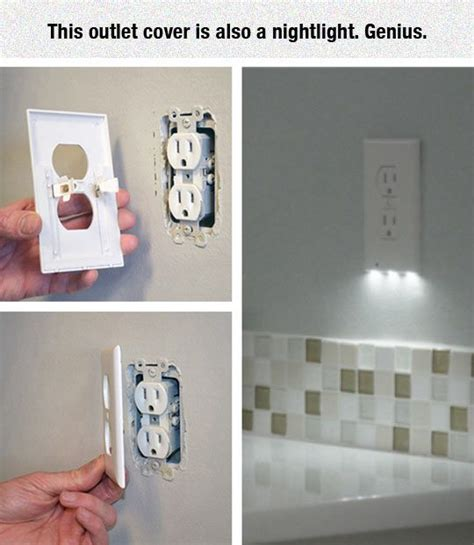 outlet plate night light led night light outlet covers install in seconds use just